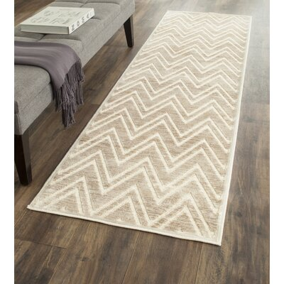 Gabbro Taupe/Beige Area Rug Rug Size: Runner 22 x 8