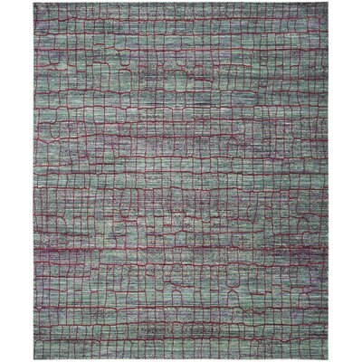 Manchester Green/Red Area Rug Rug Size: Rectangle 8 x 10