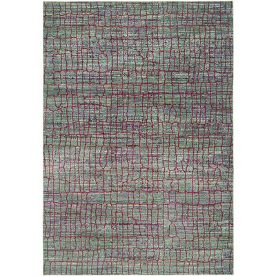 Manchester Green/Red Area Rug Rug Size: 5 x 8