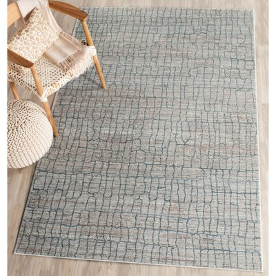 Boathaven Gray/Blue Area Rug Rug Size: Rectangle 8 x 10
