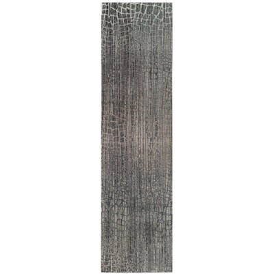 Boathaven Gray Area Rug Rug Size: Runner 23 x 10