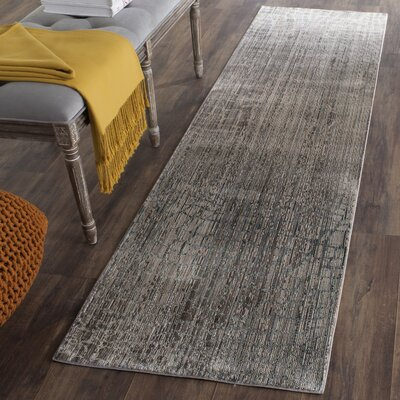Boathaven Gray Area Rug Rug Size: Runner 23 x 8