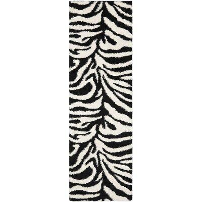 Stellan Ivory/Black Area Rug Rug Size: Runner 23 x 7