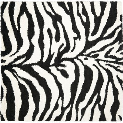 Davey Ivory/Black Outdoor Area Rug Rug Size: Square 67