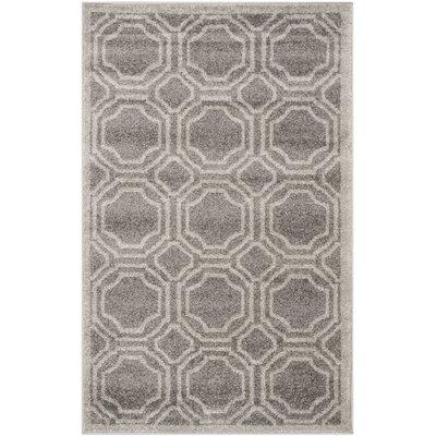 Currey Grey & Light Grey Outdoor Area Rug Rug Size: 26 x 4