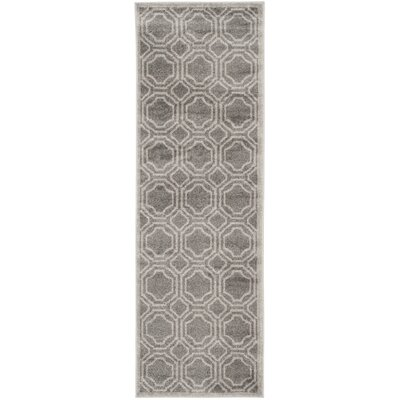 Maritza Grey & Light Grey Indoor/Outdoor Area Rug Rug Size: Runner 23 x 7