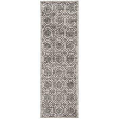 Maritza Grey & Light Grey Indoor/Outdoor Area Rug Rug Size: Runner 23 x 11