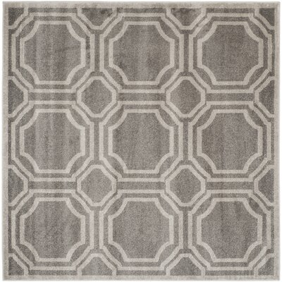 Maritza Grey & Light Grey Indoor/Outdoor Area Rug Rug Size: Square 7
