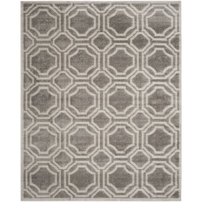 Maritza Grey & Light Grey Indoor/Outdoor Area Rug Rug Size: 10 x 14