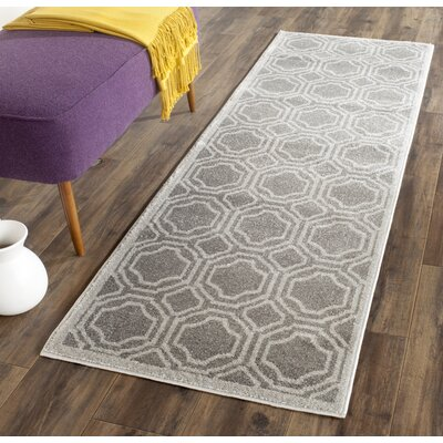 Currey Grey & Light Grey Outdoor Area Rug Rug Size: Runner 23 x 11
