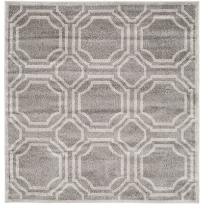 Maritza Grey & Light Grey Indoor/Outdoor Area Rug Rug Size: Square 5