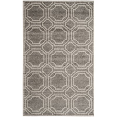 Maritza Grey & Light Grey Indoor/Outdoor Area Rug Rug Size: 6 x 9