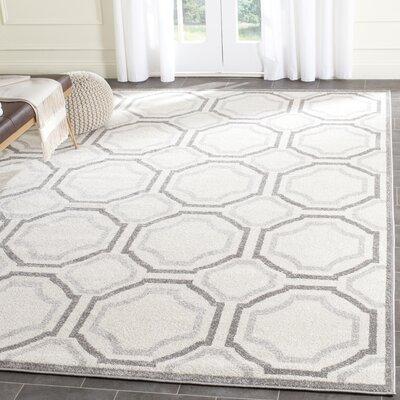 Currey Ivory & Light Grey Indoor/Outdoor Area Rug Rug Size: 10 x 14