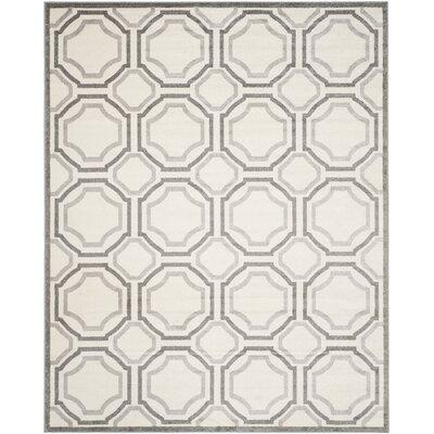 Currey Ivory & Light Grey Indoor/Outdoor Area Rug Rug Size: 9 x 12