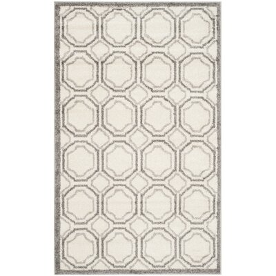 Currey Ivory & Light Grey Indoor/Outdoor Area Rug Rug Size: 6 x 9