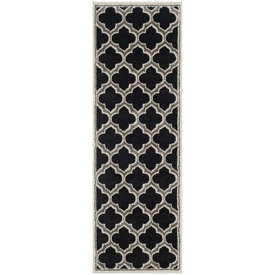 Maritza Black/Gray Indoor/Outdoor Area Rug Rug Size: Runner 23 x 7