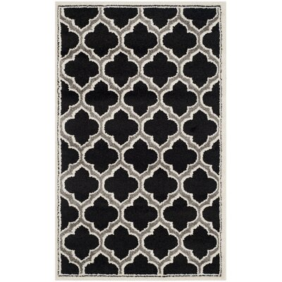 Maritza Black/Gray Indoor/Outdoor Area Rug Rug Size: Rectangle 3 x 5