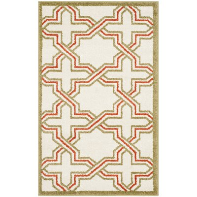 Currey Ivory/Light Green Outdoor Area Rug Rug Size: Rectangle 4 x 6