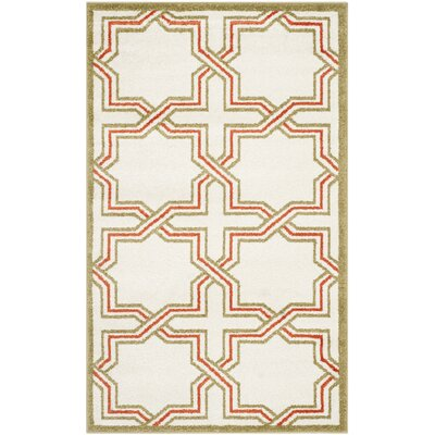 Currey Ivory/Light Green Outdoor Area Rug Rug Size: Rectangle 3 x 5