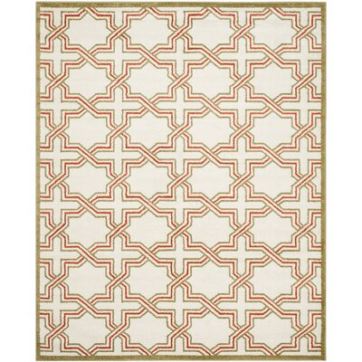 Currey Ivory/Light Green Outdoor Area Rug Rug Size: Rectangle 8 x 10