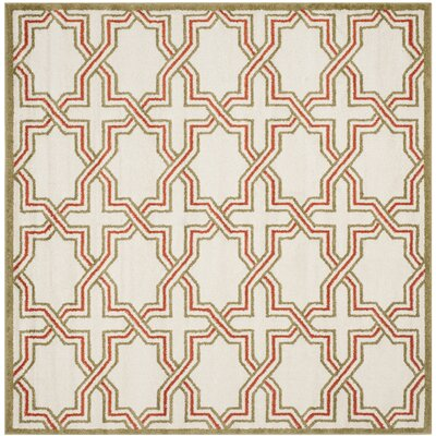 Currey Ivory/Light Green Outdoor Area Rug Rug Size: Square 7
