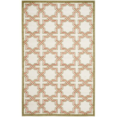 Currey Ivory/Light Green Outdoor Area Rug Rug Size: 6 x 9