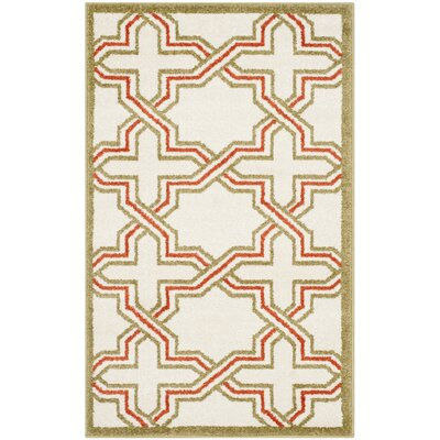 Currey Ivory/Light Green Outdoor Area Rug Rug Size: 4 x 6