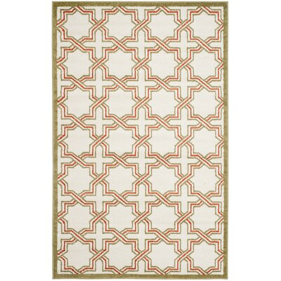 Currey Ivory/Light Green Outdoor Area Rug Rug Size: 5 x 8