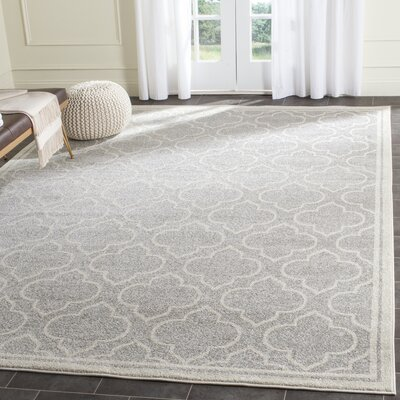 Maritza Light Gray/Ivory Outdoor Area Rug Rug Size: 8 x 10