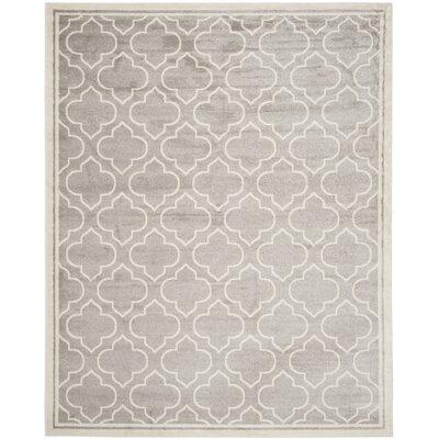 Maritza Light Gray/Ivory Outdoor Area Rug Rug Size: 6 x 9