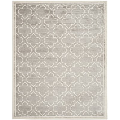 Maritza Light Gray/Ivory Outdoor Area Rug Rug Size: 12 x 18