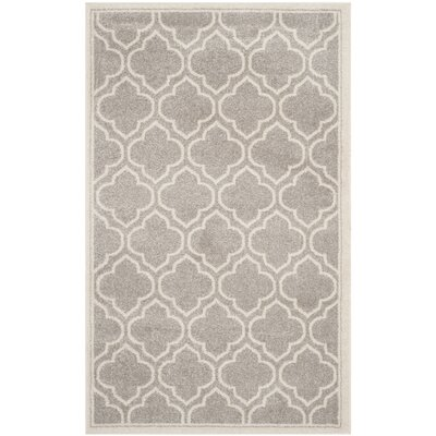 Maritza Light Gray/Ivory Outdoor Area Rug Rug Size: 3 x 5