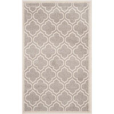 Maritza Light Gray/Ivory Outdoor Area Rug Rug Size: 4 x 6