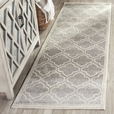Currey Light Gray/Ivory Outdoor Area Rug Rug Size: Runner 23 x 11