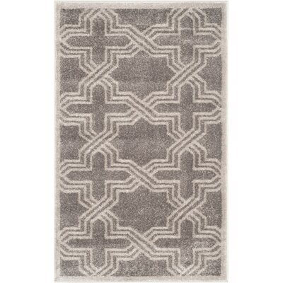 Maritza Grey/Light Grey Outdoor Area Rug Rug Size: Rectangle 26 x 4