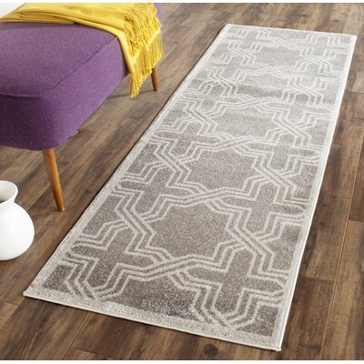 Maritza Grey/Light Grey Outdoor Area Rug Rug Size: Runner 23 x 7