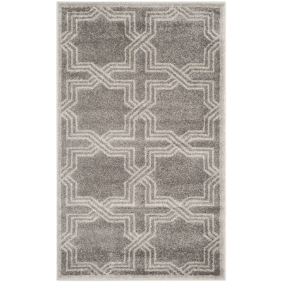 Maritza Grey/Light Grey Outdoor Area Rug Rug Size: 3 x 5
