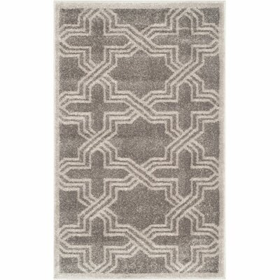 Maritza Grey/Light Grey Outdoor Area Rug Rug Size: Rectangle 4 x 6