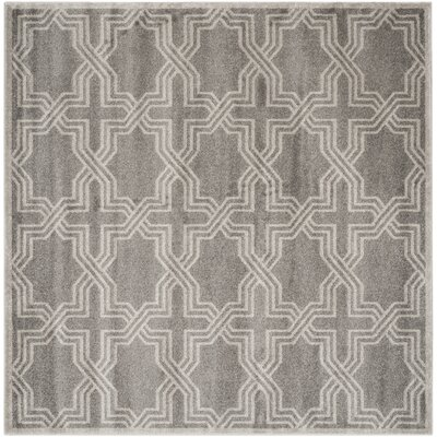 Maritza Grey/Light Grey Outdoor Area Rug Rug Size: Square 7