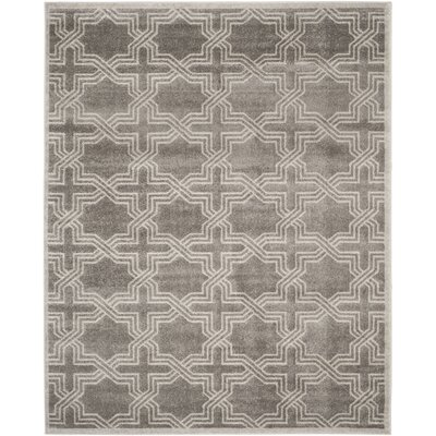 Maritza Grey/Light Grey Outdoor Area Rug Rug Size: Rectangle 8 x 10