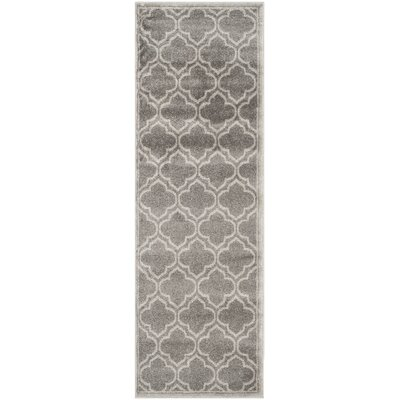 Maritza Gray Outdoor Area Rug Rug Size: Runner 23 x 7