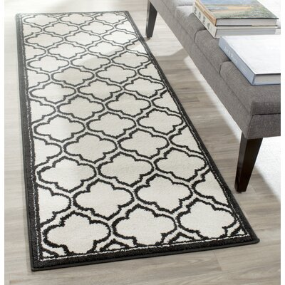 Maritza Ivory/Anthracite Outdoor Area Rug Rug Size: Runner 23 x 7