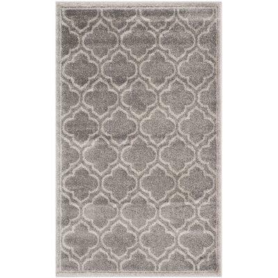 Maritza Gray/Light Gray Outdoor Area Rug Rug Size: 3 x 5
