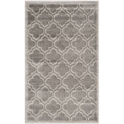 Currey Gray/Light Gray Outdoor Area Rug Rug Size: 4 x 6