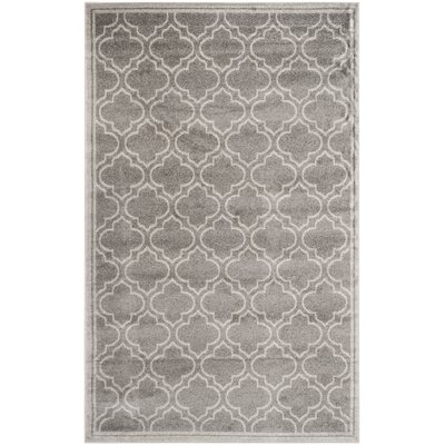 Currey Gray/Light Gray Outdoor Area Rug Rug Size: 5 x 8