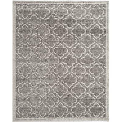 Maritza Gray/Light Gray Outdoor Area Rug Rug Size: 8 x 10