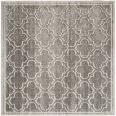 Maritza Gray/Light Gray Outdoor Area Rug Rug Size: Square 5