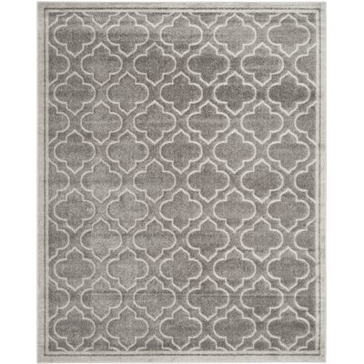 Maritza Gray/Light Gray Outdoor Area Rug Rug Size: 12 x 18
