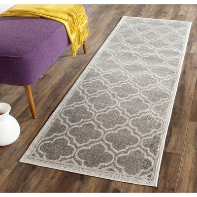 Currey Gray/Light Gray Outdoor Area Rug Rug Size: Runner 23 x 15