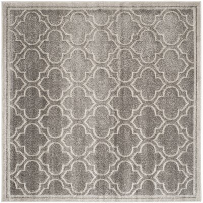 Maritza Gray/Light Gray Outdoor Area Rug Rug Size: Square 9
